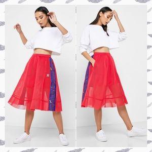 Adidas Originals Pink Mesh Circle Skirt